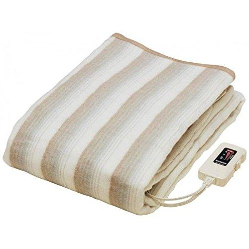 日本製 掛け敷き 兼用 電気毛布 188×130cm 丸洗い可能 安心の 日本製 室温センサー ダニ退治 機能付き 掛け毛布 敷き毛布 冬用寝具