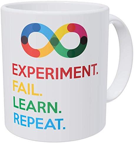 Wampumtuk Bold Science Experiment Fail Learn Repeat Teacher Funny Coffee Mug 11 Ounces Inspirational product image