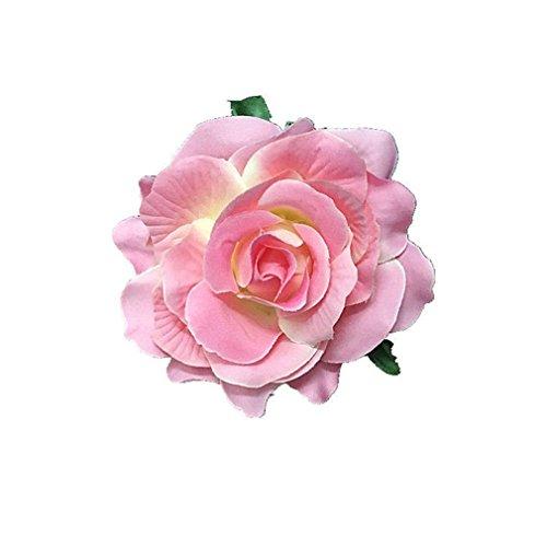 tfxwerws Creative Beautiful Rose flores pinza broche para boda DIY pel