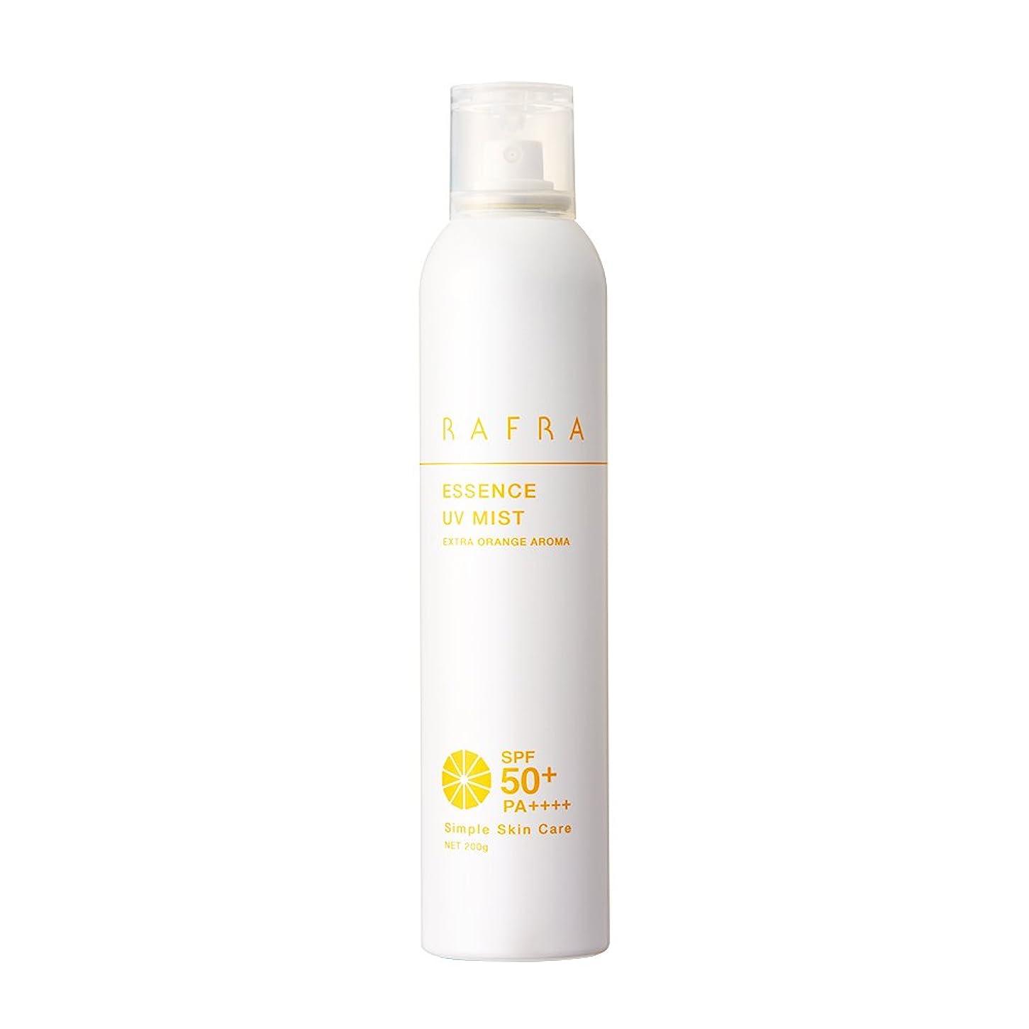 お香ヒゲ開発するラフラ エッセンス UVミスト 200g SPF50+ PA++++ 日焼け止めスプレー