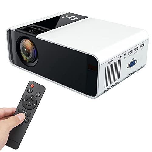 Goshyda Mini proyector, proyector de Cine en casa portátil W10, proyector de Video para Exteriores con WiFi Bluetooth 4K UHD LCD con interfaces AV USB HDMI VGA, para Android(EU)