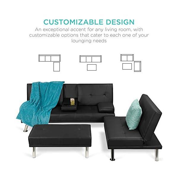 Best Choice Products 3-Piece Modular Modern Living Room Sofa 2
