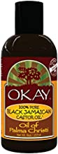 OKAY | 100% Pure Black Jamaican Castor Oil | For All Hair Textures & Skin Types | Grow Healthy Hair - Treat Skin Conditions | Oil of Palma Christi | All Natural | 8 Oz