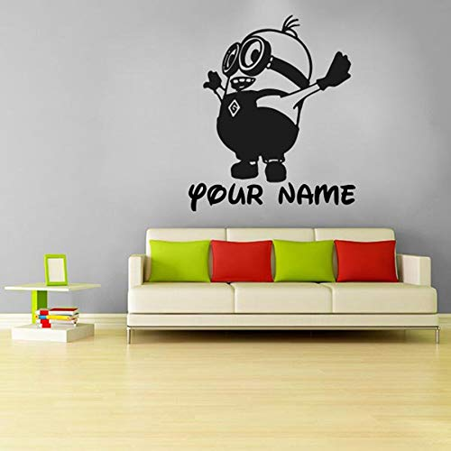 fdgdfgd Enfants drôles et créatifs Minion Autocollants Dessin animé Mignon Stickers muraux décoratifs en Vinyle Petites Personnes Jaunes | Chambre Salon Chambre escalier Stickers muraux Amovibles