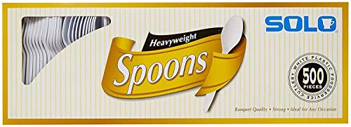 SOLO Cup Company White Heavyweight Spoons - 500 ct