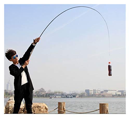 Aiglen Caña de Pescar ultracorta Mini portable1,8-6,3 M, caña de Pescar telescópica de Fibra de Carbono, caña de Pescar de Carpa Ultraligera (Size : 3.0M)