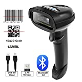 NETUM 2D Barcode Scanner, Compatible with 2.4G Wireless & Bluetooth & USB Wired Connection, Connect Smart...