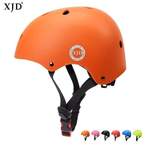 XJD Kinder Jugend Fahrradhelm Klassiker 1.0 CE-Zertifizierung für Sport Skateboard Motorrad 3-13 Alt (Orange S)
