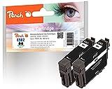 Peach Cartucho de Tinta Cian Compatible con Epson No. 502C, C13T02V24010