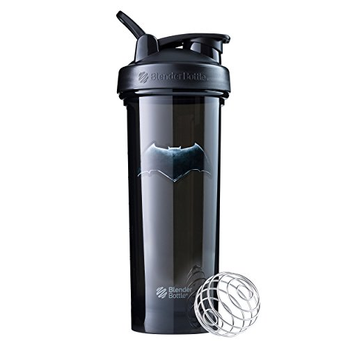 BlenderBottle Justice League Shaker Bottle Pro Series Perfect for Protein Shakes and Pre Workout, 32-Ounce, Batman