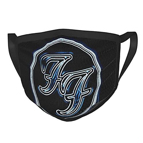 Máscara facial clásica de Foo Fighters, lavable, reutilizable, de seguridad, para hombres, resistente al polvo, resistente al viento y protección UV