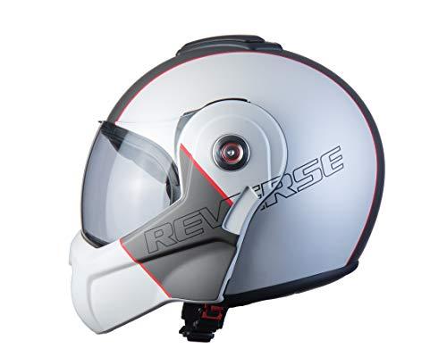 BHR Helmets 807 REVERSE Motorradhelm Unisex für Erwachsene, Weiss, M