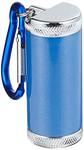 アドミラル産業携帯灰皿シリンダー5カラビナ付きブルー81590004