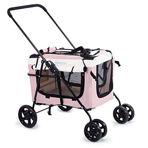 Display4top Pink Pet Travel Cochecito...