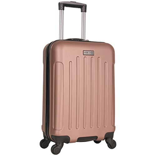 Heritage Travelware Lincoln Park 20' Hardside 4-Wheel Spinner Carry-on Luggage, Rose Gold