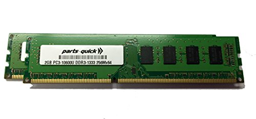 4GB (2 X 2GB) Kit Memory for Dell Vostro 230 DDR3 PC3-10600 1333MHz DIMM RAM (PARTS-QUICK Brand)