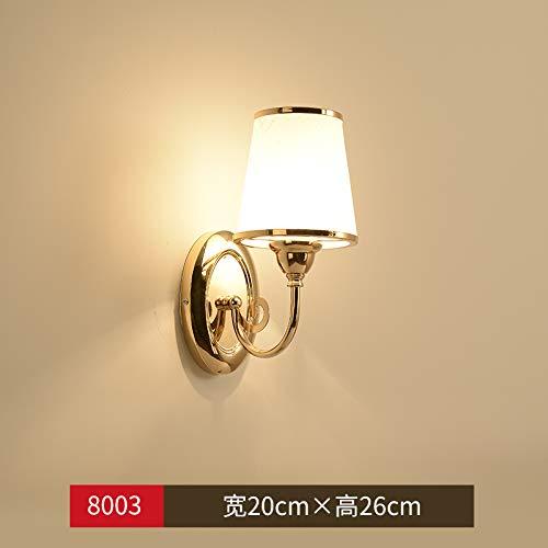 Agorl Lampe de chevet nordique lampe de chambre chambre lampe créative lampe de chambre pour enfants allumer des lumières simples allées modernes, 8003 tête simple + lumière chaude