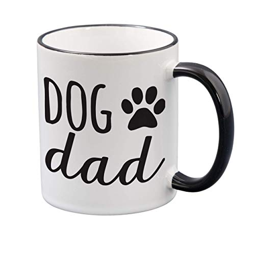 Dog Dad Ceramic Coffee Mug - Funny Birthday Gifts for Men, Dad, Uncle, Brother, Boyfriend - Coffee Mugs Gift for Dog Lovers - Best Dad Mug Ever - 11oz