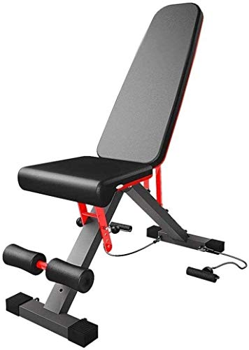Suge Peso Ajustable Banco Utilidad Siéntese Banco Multiuso Plana/Inclinación/Decline Bench Gimnasio Utilidad Ejercicio Banco Gym Equipment (Color : Black)