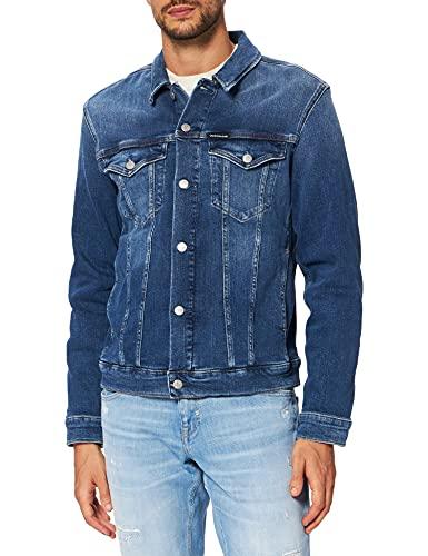 Calvin Klein Jeans Modern Essential Denim Jacket Chaqueta de Jean, Mezclilla Mediana, S para Hombre