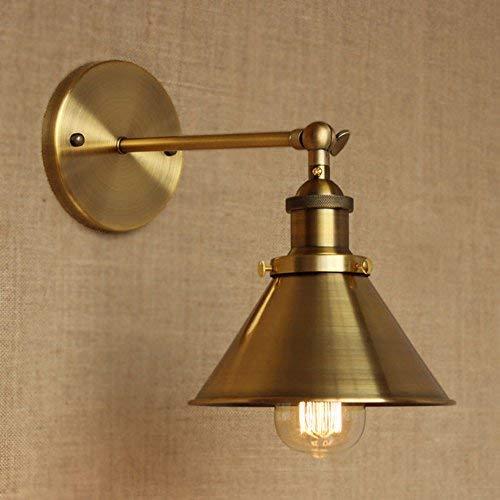 NIUYAO Lampe Applique Murale Abat-jour en Métal Mur de Feu Rétro Industriel Luminaire Décorative-Or