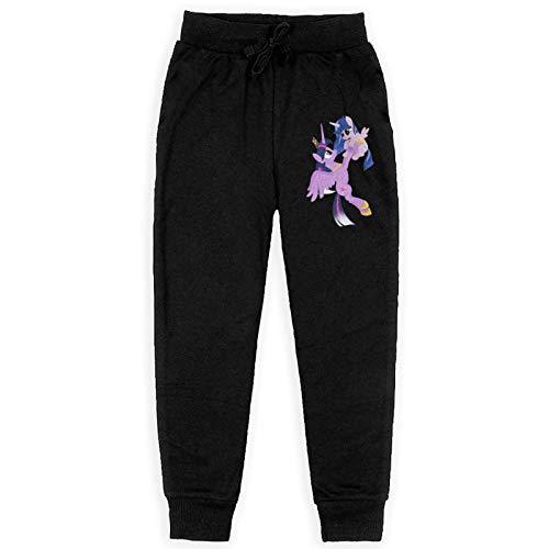 Miwaimao My Litt_Le Po_Ny Jogginghose für Jungen, 3D-Druck, Baumwolle, mit Taschen, Sporthose, Fleece-Hose Gr. 36-41, Schwarz