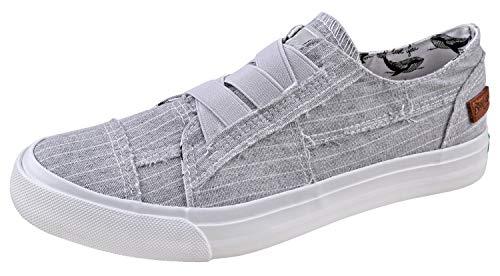 Blowfish Womens Marley Casul Shoes Marley-GRYHAMMGrey Hammock Stripe 6
