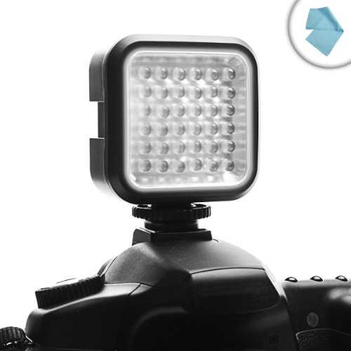 ENHANCE VidBRIGHT 36 Rechargeable High Output Balanced Light LED Camera / Video Light Panel w/ Built-In Diffuser for Panasonic , Toshiba Camileo , Canon VIXIA and Other Camcorders