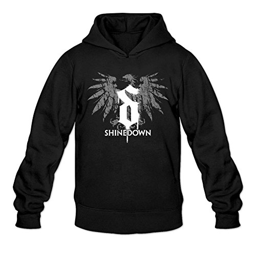 LSLEEVE Men's The Band Shinedown Hoodie Black XL