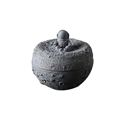 XDYNJYNL Cenicero desmontable anti-mosca con forma de astronauta conveniente que se puede lavar con cemento de agua + material de acero inoxidable adecuado para la decoración del hogar, escritorio, do