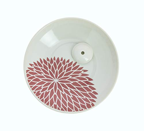 Tierra Zen Inc 75656 Yukari Plano Crisantemo Incienso Titular Blancas 2 cm