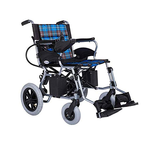 Elektrische rolstoel, praktisch, voor oudere personen in rolstoel, rolstoel, voor ouderen, van aluminiumlegering, inklapbare rolstoel
