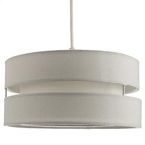 Paralume per soffitto a triplo livello in tessuto di lino grigio di qualità contemporanea:FBM