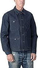 Tellason Made in USA Men's 16.5 oz Japanese Kaihara Selvedge Denim Coverall Jacket Chore Coat (XL)