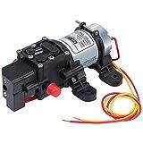 Coolty Hochdruck Membran Wasserpumpe DC 12V Selbstansaugende Elektropumpe 100PSI 4L / Min für Wohnwagen Bootsreinigung Waschen und Gartenbewässerung