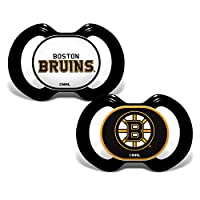Baby Fanatic NHL Legacy Infant Pacifiers, Boston Bruins, 2 Pack