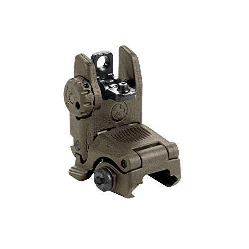 Magpul MBUS Flip-Up Backup Sights, Olive Drab Green, Rear Sight