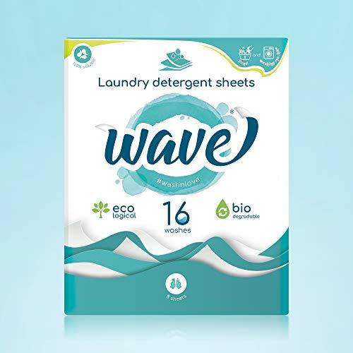 Wave Washing Classic - Il detersivo in fogli - 208 lavaggi -13 scatole - Ecologico - Biodegradabile - 1 scatola/16 lavaggi.