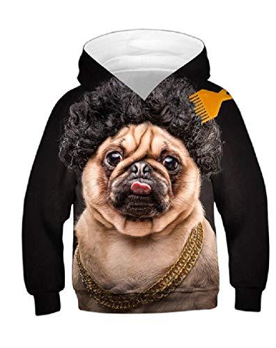 Takra Gold 3D Hoodies Boys Girls Funny Sweatshirts, Afro Rich Dog