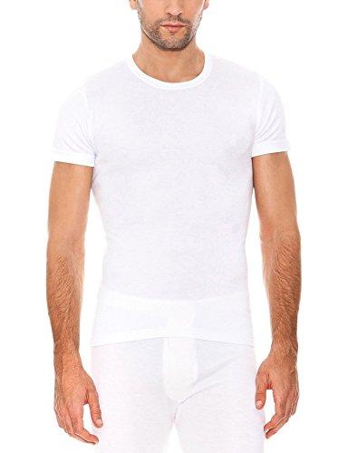 ABANDERADO Termal Fibra De Invierno C/Redondo Camiseta térmica, Blanco, L para Hombre