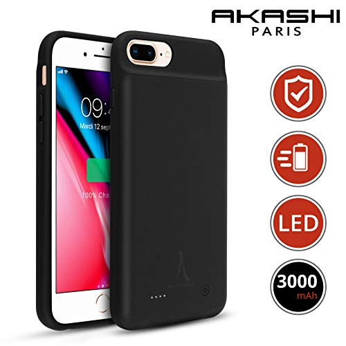 AKASHI TECHNOLOGY - Coque Batterie iPhone Se 2020, Coque Batterie iPhone 8, Coque iPhone 7, Coque iPhone 6S / 6, Antichoc avec Batterie intégrée 3000 mAh
