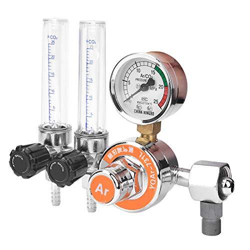 Weikeya Regulador de presión de argón principal, M10x1.0 0-25MPa 170 x 155 x 80mm Regulador de presión de agua Aleación de zinc Hecho