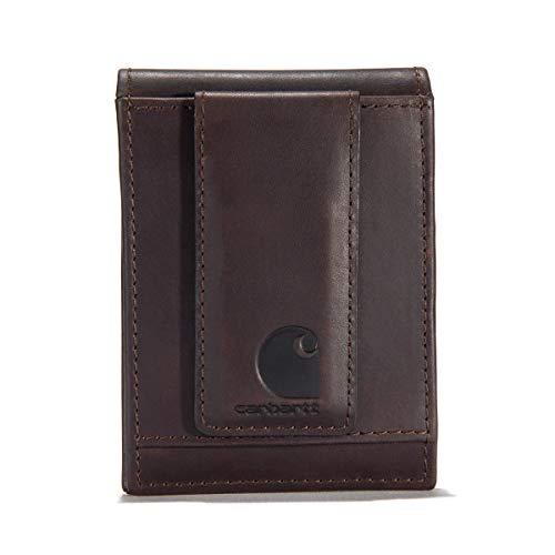 Carhartt Men's Standard Front Pocket Wallet, Oil Tan-Brown, One Size