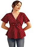 Istyle Can Women's Top (SHE COLLECTION_Maroon_Small)