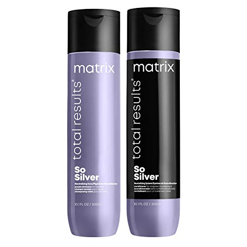 Matrix   So Silver   Purple Shampoo 300ml and Conditioner 300ml   for Blonde Hair Duo Set