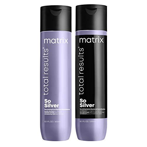 Matrix   So Silver   Purple Shampoo 300ml and Conditioner 300ml   for...