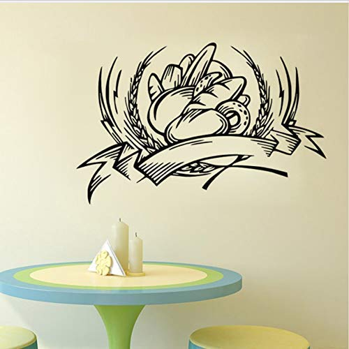 Calcomanía Decorativa De Pared Para Panadería, Adhesivo Para Azulejos De Cocina, Adhesivo Impermeable Para Pared De Pan, 44X68Cm