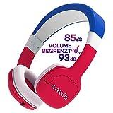 Kinder Kopfhörer Bluetooth 2 in 1 CARRVAS Drahtlose Kinderkopfhörer, Kabelgebundene Verstellbare Kopfhörer für Kinder, Lautstärkebegrenzungs Lebensmittelqualität Material mit Mikrofon