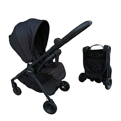 Cochecito de bebe Silla de viaje portatil asiento reversible Certificado CE(negro)