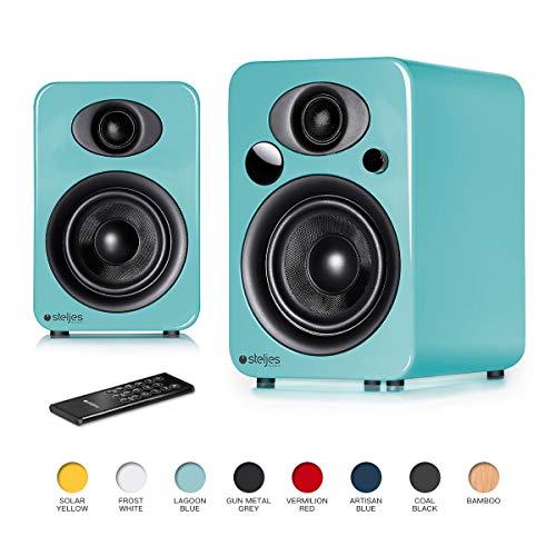 Steljes Audio NS3 Powered Loud Speakers Bookshelf Stereo System 45W RMS...